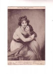 B&W Mother Child, Elisabeth Louise Vigee 1904, Paris to Back Bay Bastou, Mass...