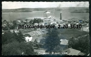 3610 - CABANO Quebec 1958 Birds Eye View. Real Photo Postcard