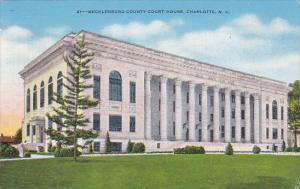 Exterior,  Mecklenburg County Court House,  Charlotte,  North Carolina,  PU_1946