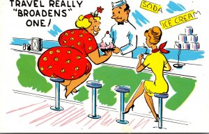 Humour Fat Lady At Sode Counter Travel Realyy Broadens One