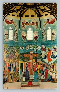 Port au Prince Haiti, West Indies, Mural Paintings, Episcopal, Chrome Postcard