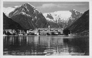 Balholmen Norway Kvikne Hotel Real Photo Vintage Postcard JC932707