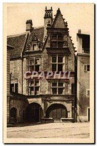 Postcard Old House Sarlat Renaissance Or Was born Etienne de la Boetie Bank C...