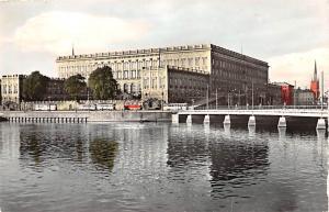 Sweden Old Vintage Antique Post Card Royal Palace Stockholm 1963