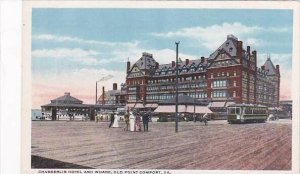 Virginia Old Point Comfort Chamberlin Hotel &  Wharf Trolley