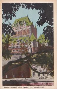 Canada Quebec Chateau Frontenac Hotel 1931
