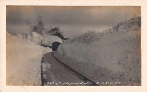 Raymondville Nova Scotia? Canada St. Louis Railway? Tracks Photo Postcard J69607