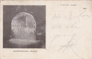 Grave of Nathaniel Hawthorne, Concord, Massachusetts 1910