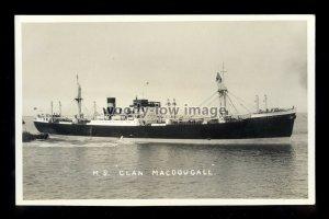 bf1006 - Clan Line Cargo Ship - Clan Macdougall - postcard by B Feilden