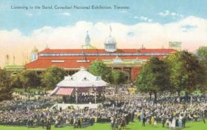 Listening to Band CNE Canadian National Exhibition Toronto Ontario Postcard E13