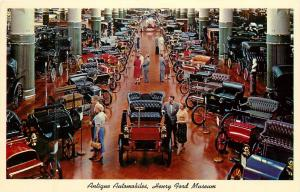 Antique Automobiles Henry Ford Museum Dearborn Michigan Postcard