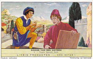 Liebig Trade Card s1764 Roger de la Pasture No 4 Rogier Bezoekt Italie