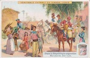 Liebig Vintage Trade Card S973 Argentine Republic No 3 Marchands des rues