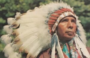 CHEROKEE , North Carolina , PU-1977 , Indian Chief