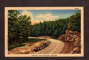 WI Greetings From Tomahawk Wisconsin Postcard Wis PC