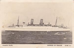 RP, Oceanliner/Steamer/Ship, Canadian Pacific Empress Of France, 20,448 Tons, PU