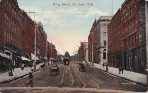 Trolley on King Street - St John NB, New Brunswick, Canada - DB