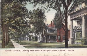 LONDON , Ontario , Canada , PU-1907 ; Queen's Avenue, Looking West from Welli...