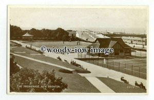 tq2421 - Cheshire - Promenade, Greens & Tennis Courts at New Brighton - Postcard