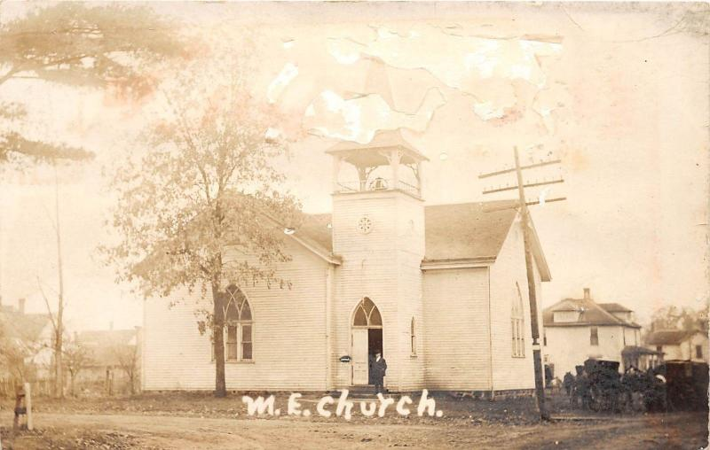 D86/ Star City Indiana In Real Photo RPPC Postcard 1910 M.E. Church