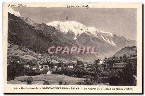 Postcard Old Saint Gervais les Bains Neyret and Dome of Miage (3669m)