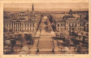 France Strasbourg Vue vers l'Universite prise du palais du Rhin Palace