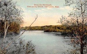 Down the Merrimack Lowell, Massachusetts Postcard