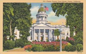 California Fresno County Court House Curteich