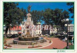 Postcard Modern Quebec The Monument of Faith Place d'Armes