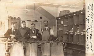 Cooperstown NY Mail Handlers Sorting U.S. Mail RPPC Postcard