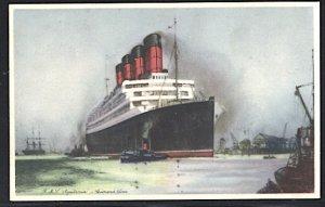Cunard Lines RMS Aquitania Postcard