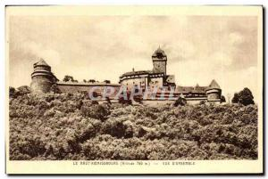 Old Postcard The Hochkönigsburg view D & # 39Ensemble