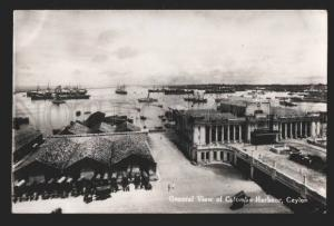 117161 CEYLON General View of COLOMBO Harbour Vintage PC