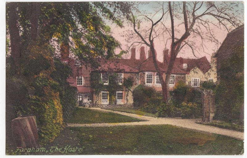 Surrey; The Hostel, Farnham PPC, Farnham 1914 PMK To Miss Mason, Braunton