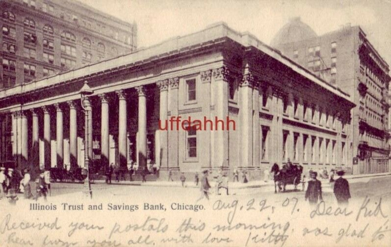 PRE-1907 ILLINOIS TRUST AND SAVINGS BANK, CHICAGO 1907