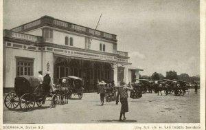 indonesia, JAVA SOERABAIA, Railway Station (1910s) Postcard (2)