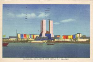 Federal Building and Hall Of States World's Fair Chicago 1933