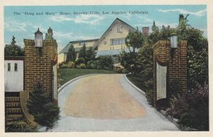 LOS ANGELES, California, 1910s; The Doug and Mary Home, BEVERLEY HILLS
