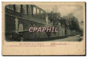 Postcard Old Bellevue Meudon External view of the Bellevue castle terrace