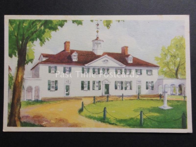 USA: Fairfax County VIRGINIA Mount Vernon WEST FRONT - George Washington c1934
