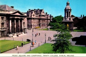 Ireland Co Dublin Dublin Trinity College Front Square and Campanile