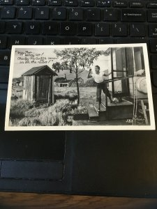 Antique Photo Postcard RPPC- Hey Pop Hurry Up! Charley McCarty's Comin in