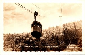 New Hampshire Cannon Mountain Aerial Passenger Tramway Real Photo