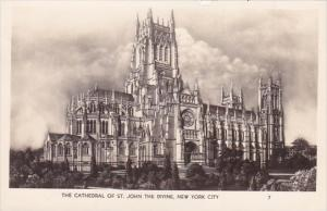 The Cathedral Of Saint John The Divine New York City New York Real Photo