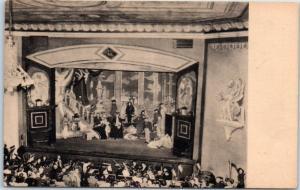 Central City, Colorado Postcard Opera House Interior View Albertype 1940s Unused