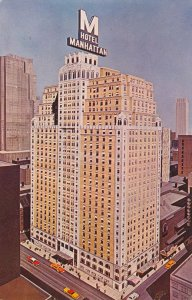 Hotel Manhattan NYC New York City - Home of Famous Playbill Restaurant - pm 1963