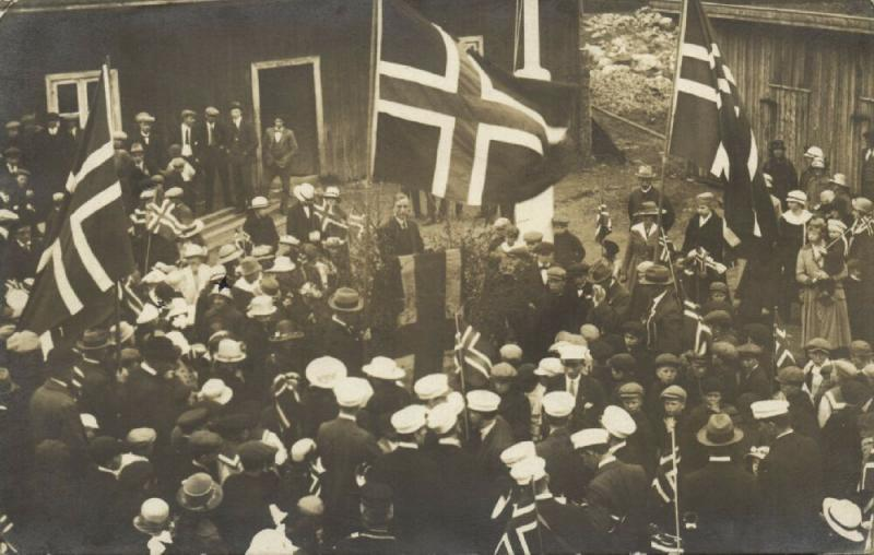 norway norge, Norwegian National Day 17th of May, Flags Patriotic (1910s) RPPC