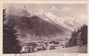 France Chamonix Mont Blanc Vue generale 1938