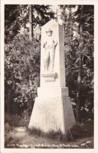 Idaho Monument To Captain Mullan Highway 10 North Idaho Real Photo