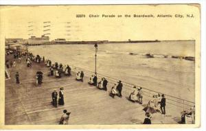ATLANTIC CITY, New Jersey, PU-1912; Chair Parade On The Boardwalk